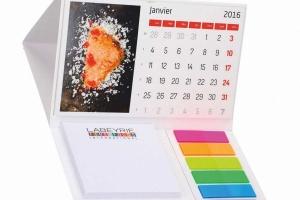 Stalinis kalendorius kietu pagrindu 155 x 180 mm, kalendorius klijuotas